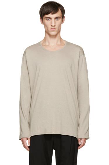 Nude:mm - Beige Long Sleeve T-Shirt