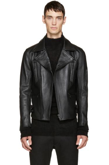 Blackmeans - Black Monochrome Biker Jacket