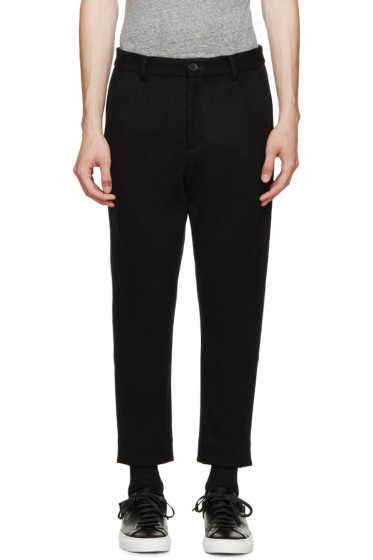 Undecorated Man - Navy Cashmere Blend Trousers