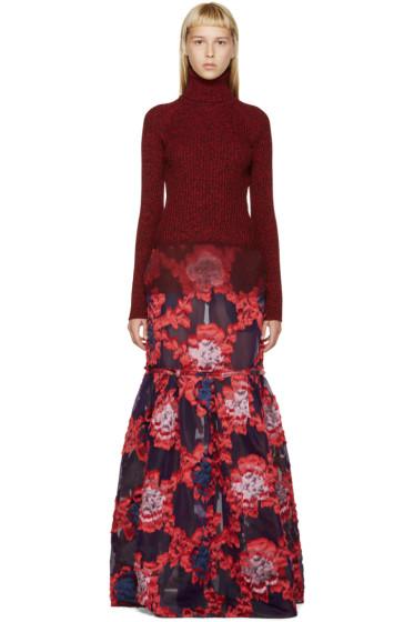 Erdem - Red & Purple Madda Dress