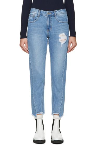 SJYP - Blue Bias Jeans