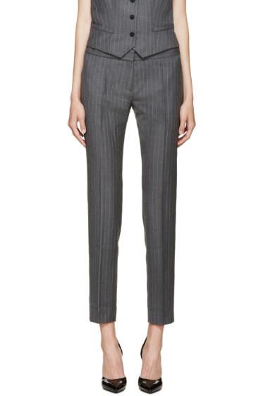 Pallas - Grey Pinstripe Trousers