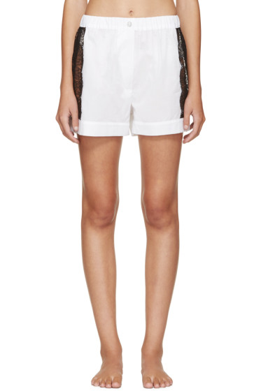 Raphaëlla Riboud - White Lace-Inset Museletta Shorts