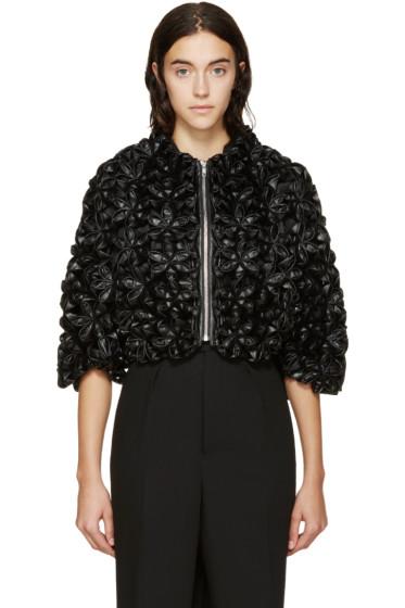 Noir Kei Ninomiya - Black Cropped Modular Padded Flower Jacket