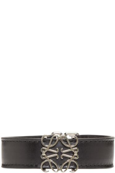 Loewe - Black Anagram Belt Bracelet