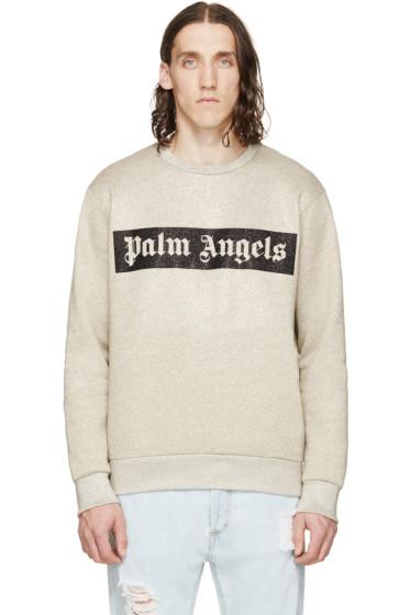 Palm Angels - Gold Logo Crewneck Sweatshirt