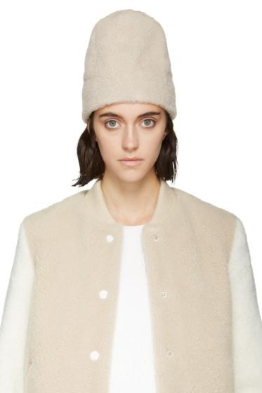 Aalto - Cream Shearling Hat