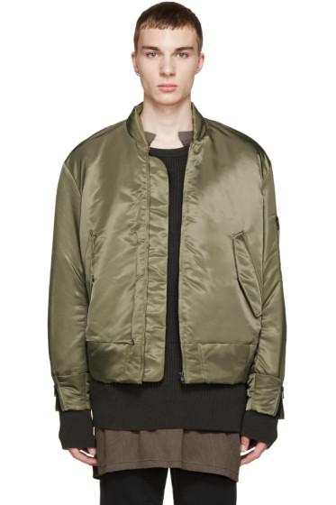 YEEZY Season 1 - Green Nylon Bomber Jacket