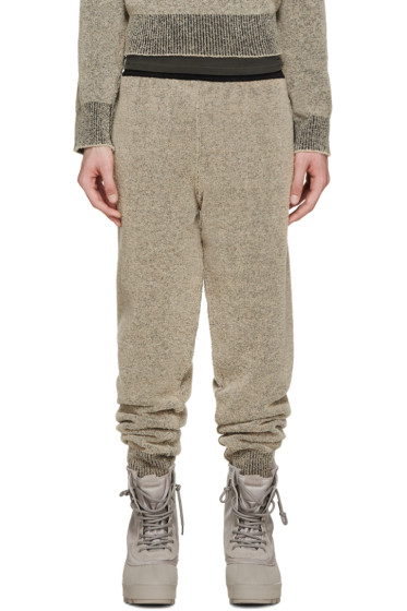 YEEZY Season 1 - Brown Bouclé Knit Lounge Pants