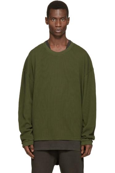 YEEZY Season 1 - Green Waffle Cotton Thermal T-Shirt