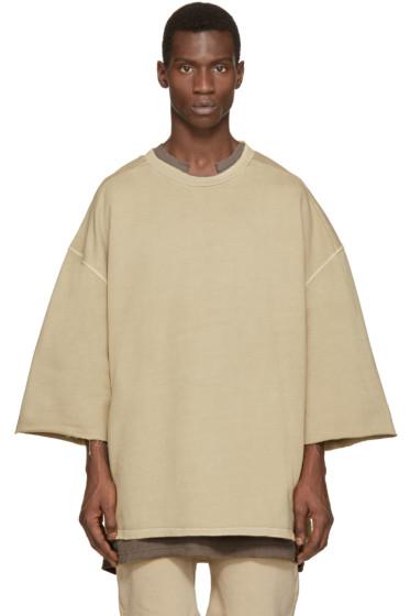 YEEZY Season 1 - Beige Cropped-Sleeve Pullover