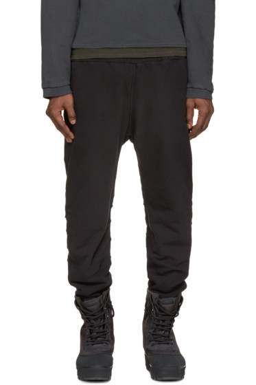 YEEZY Season 1 - Black French Terry Lounge Pants