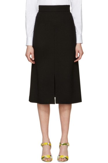 Dolce & Gabbana - Black Wool Crepe Skirt