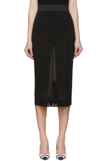 Dolce & Gabbana - Black Mesh Pencil Skirt