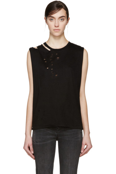 R13 - Black Ripped T-Shirt
