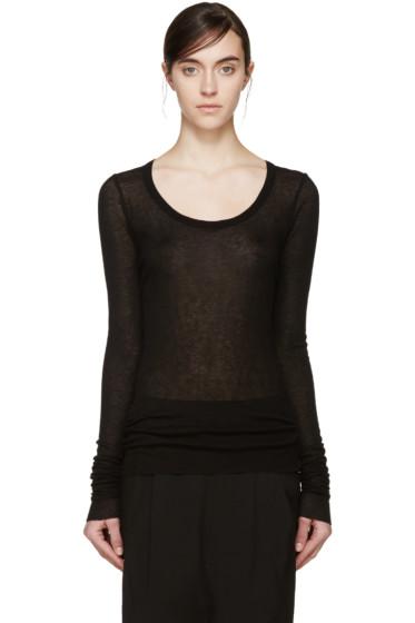 Rick Owens Lilies - Black Overlong Sleeve T-Shirt