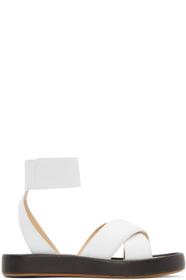 Rag & Bone - White Leather Venus Sandals