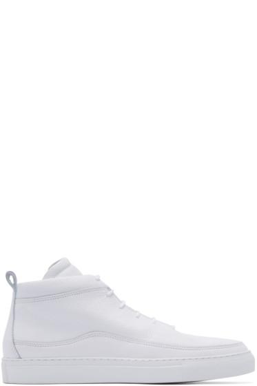 Public School - White Braeburn Mid-Top Sneakers