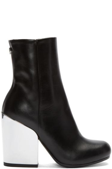 McQ Alexander Mcqueen - Black Mirrored Heel Gefrye Boots