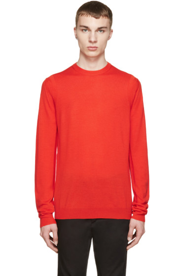 McQ Alexander Mcqueen - Red Wool Knit Pullover