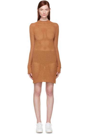 Acne Studios - Tan Open Knit Alca Dress