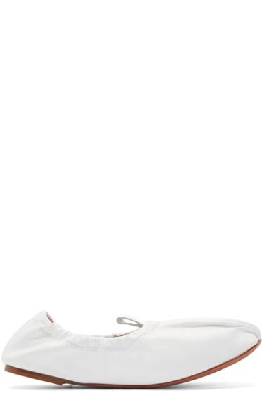 Acne Studios - White Allegra Ballerina Flats