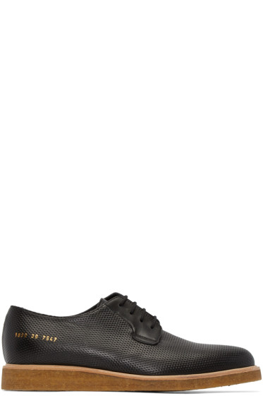 Common Projects - Black Perforated Derbys
