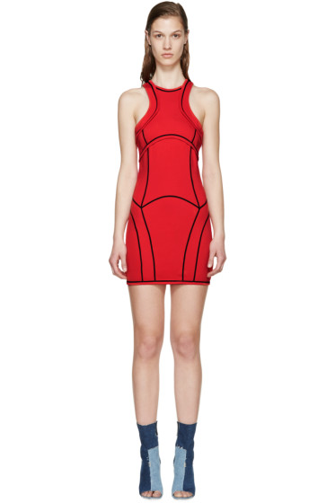 Dsquared2 - Red Knit Curved Panel Dress