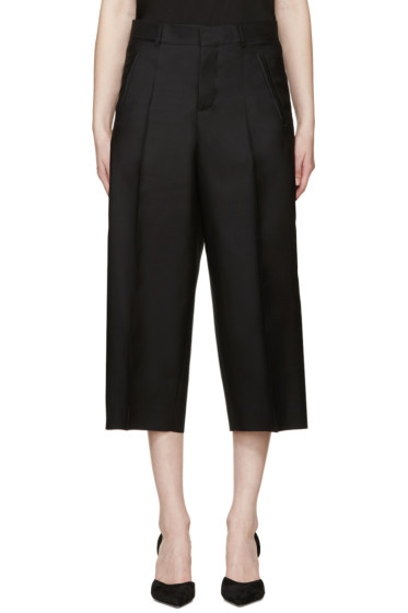 Dsquared2 - Black Cropped Wide-Leg Trousers