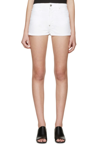 Dsquared2 - White Denim Dalma Shorts