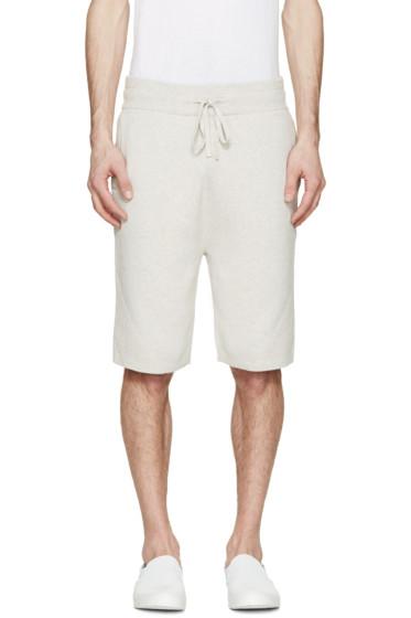 Helmut Lang - Grey Knit Panelled Shorts