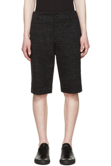 Helmut Lang - Black & White Tailored Shorts