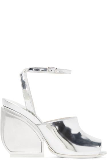 Maison Margiela - Silver Mirror Heel Sandals