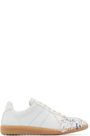 Maison Margiela - Off-White Leather Painted Replica Sneakers