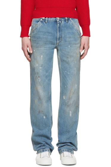 Maison Margiela - Blue Dirty & Stained Jeans