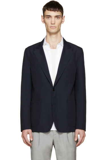 Maison Margiela - Navy Wool Deconstructed Blazer