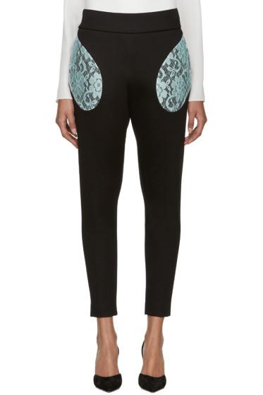 Christopher Kane - Black Lace Pocket Trousers