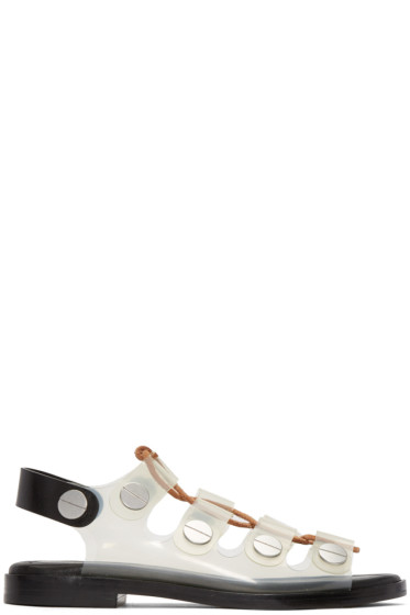 Alexander Wang - Clear Lace-Up Patricia Sandals