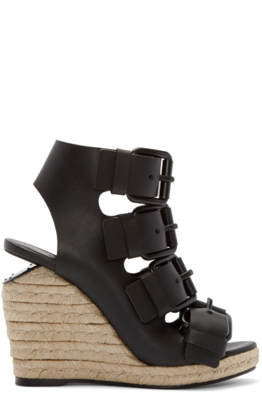Alexander Wang - Black Leather Jo Sandals