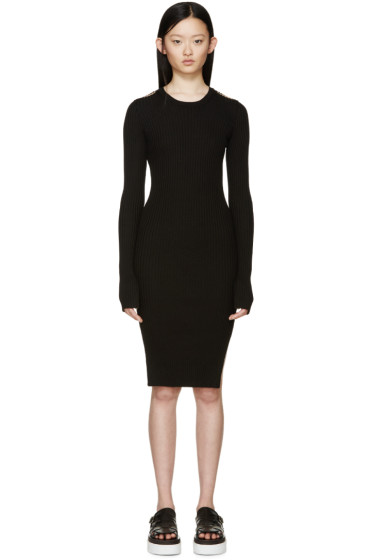 MM6 Maison Margiela - Black Rib Knit Dress