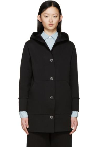 MM6 Maison Margiela - Black Buttoned Hoodie