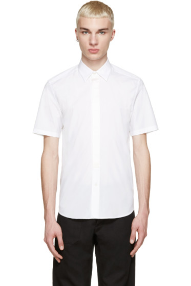 Marc Jacobs - White Silk Trim Shirt