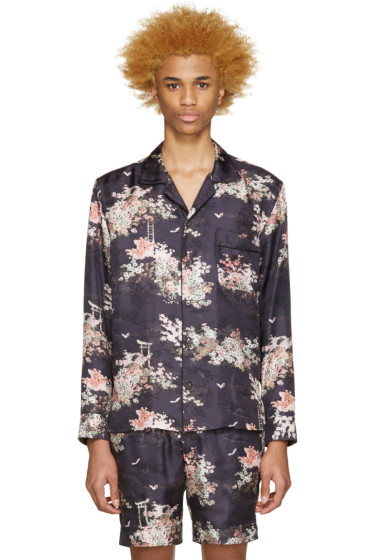 Marc Jacobs - Navy Silk Japanese Shirt