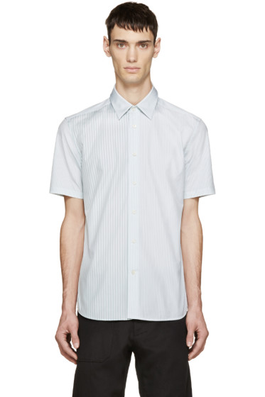 Marc Jacobs - White & Green Striped Shirt