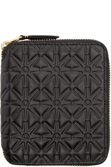 Comme des Garçons Wallets - Black Embossed Leather Line 125 Wallet