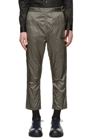 Jil Sander - Grey Nylon Trousers