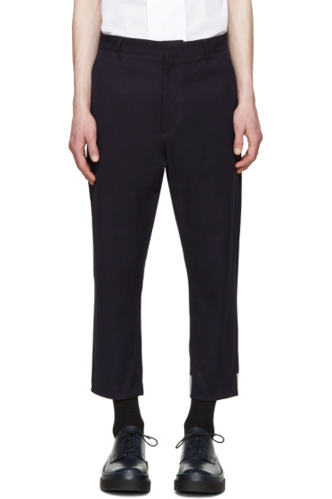 Jil Sander - Navy Cropped Trousers