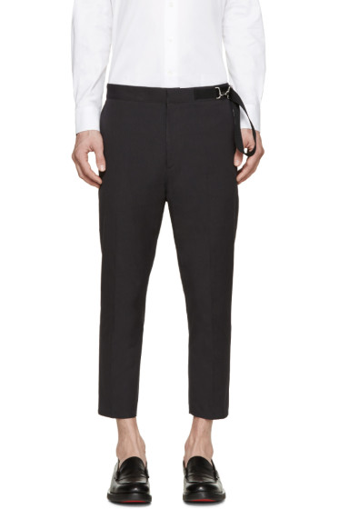 Jil Sander - Grey Twill Cinch Belt Trousers