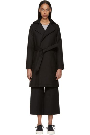 A.P.C. - Black Gabardine Detective Coat
