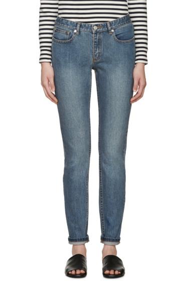 A.P.C. - Blue Slim Moulant Jeans